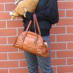 Leopard pants.