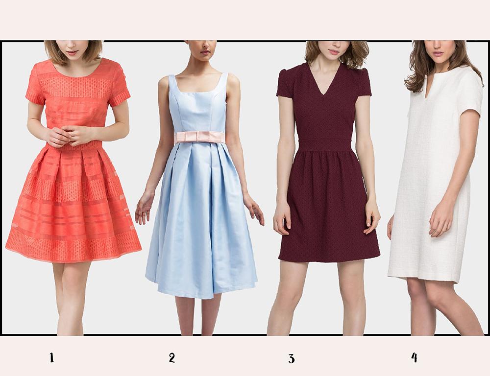 Sukienki na jesień - kolaż4