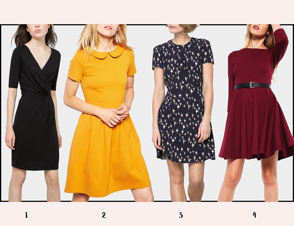 Sukienki na jesień - kolaż 3