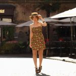 czarna spódnica z szelkami stokrotki H&M grunge tumblr Vinted