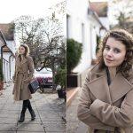 Beżowe płaszcze na jesień i zimę