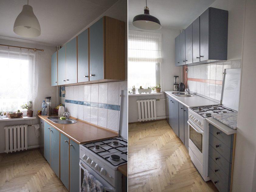 Metamorfoza kuchni - zdjęcie porównawcze